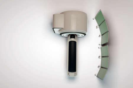 mri: mri scanner isolated on white background