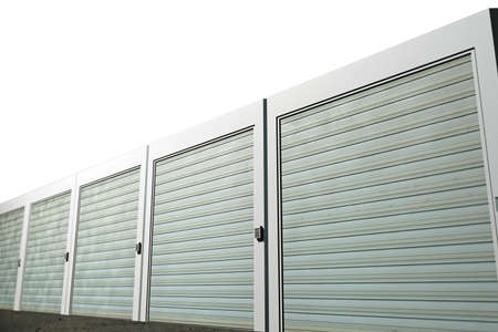 storage unit: storage units isolated on white background