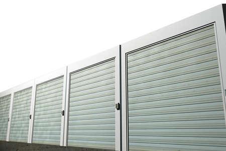 units: storage units isolated on white background