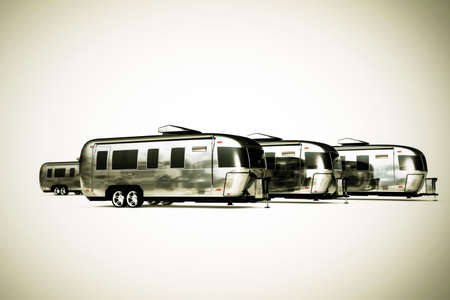 airstream: airstream camper isolated on white background