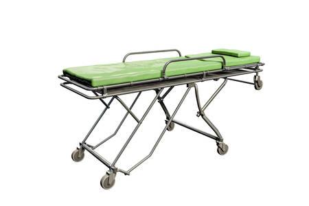 emergency stretcher: emergency stretcher isolated on white background