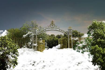kingdom of god: 3d illustration of the heaven gate