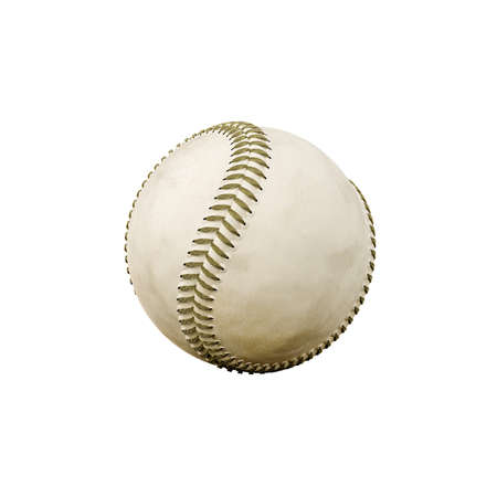 fastball: 3d illustration of a baseball ball isolated on white background