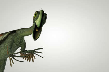 periods: 3d illustration of a Gigantoraptor isolated on white background