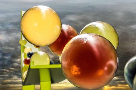 gumballs: 3d illustration of sweet gumballs