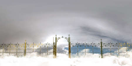 kingdom of god: 3d illustration of the amazing heaven gate