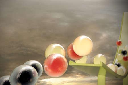 gumballs: 3d illustration of tasty gumballs Stock Photo
