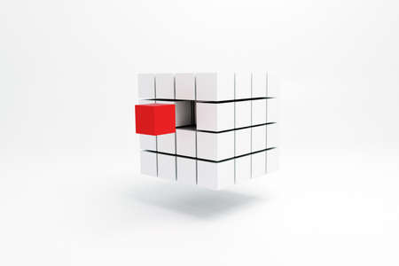 problem solution: 3d illustration of a cubic shape isolated on white background