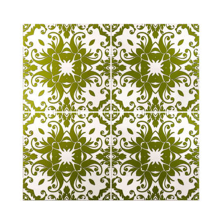 portuguese: 3d illustration of portuguese tiles texture