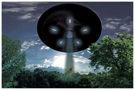 unidentified flying object: 3d illustration of an unidentified flying object