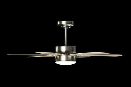 3d illustration of a ceiling fan isolated on black background