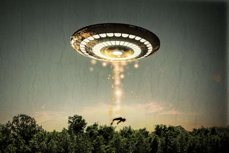 unidentified flying object: 3d illustration of un unidentified flying object