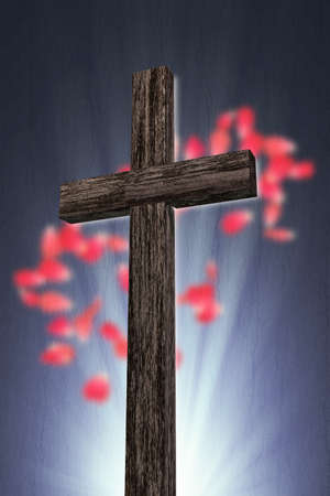3d illustration of a wooden cross