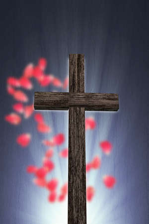 3d illustration of a wooden cross