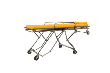 gurney: 3d illustration of an emergency stretcher Stock Photo