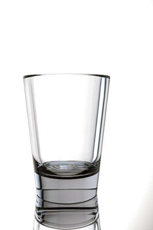 drinkware: 3d illustration of an empty glass isolated on white background