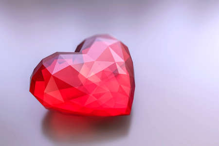 3d illustration of an heart stone isolated