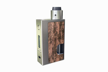vaporizer: 3d illustration of a box mod isolated on white background