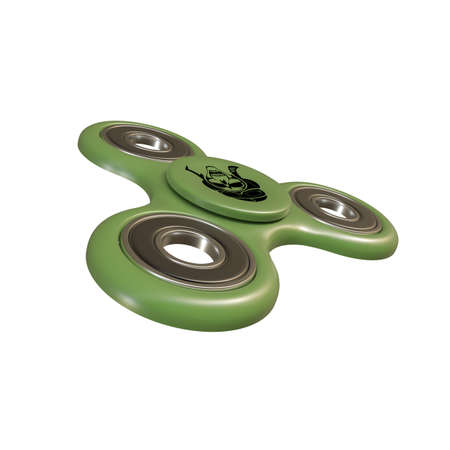 3d illustration of a fidget spinner isolated on white background Stock Photo