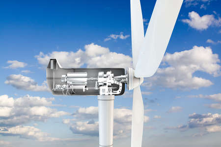 3d illustration of a power turbine section