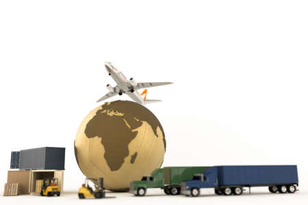3d illustration of the transportation world system Stock Photo