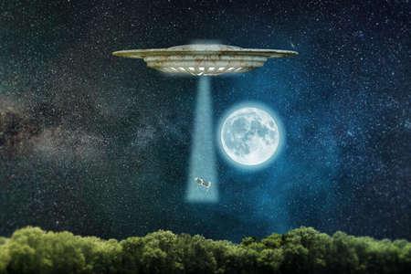 3d illustration of an alien spaceship  Stock Photo