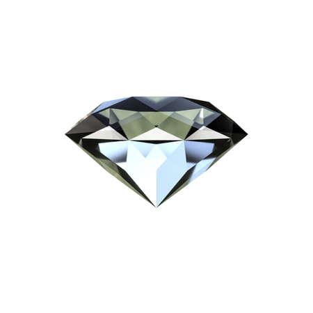 diamond isolated on white background 3d illustration