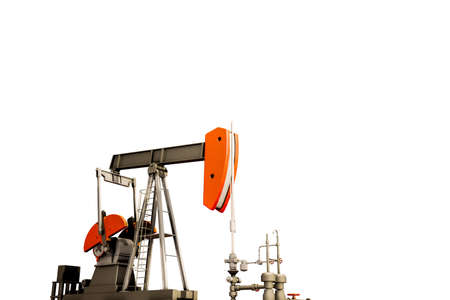 oil pump isolated on white background 3d illustration
