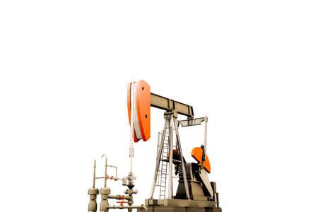 oil pump isolated on white background 3d illustration Stock Illustration - 106802744