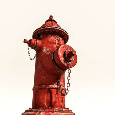 hydrant isolated on white background 3d illustration