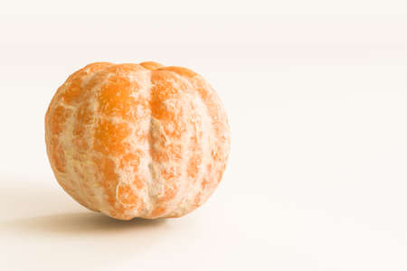 tangerine isolated on white background 3d illustration