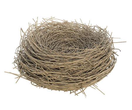 nest isolatad on white background 3d illustration Stock Photo