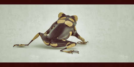 Small poison frog isolated on white background 3d illustration