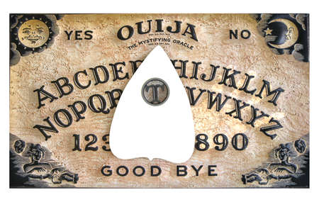 ouija board isolated on white background  3d illustration