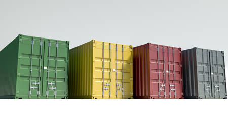 cargo containers isolated on white 3d illustration Stockfoto