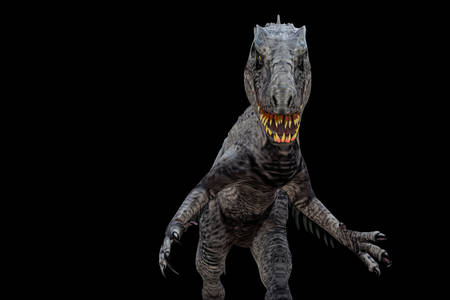 indominus rex isolated on black background 3d illustration 스톡 콘텐츠