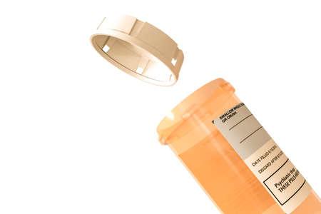 pills bottle isolated on white background 3d illustration Banco de Imagens