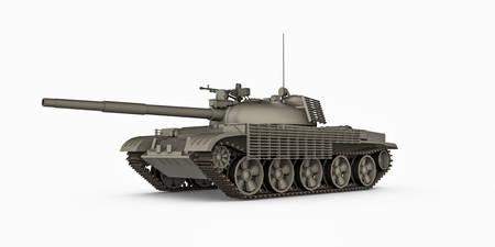 tank isolated on white background 3d illustration