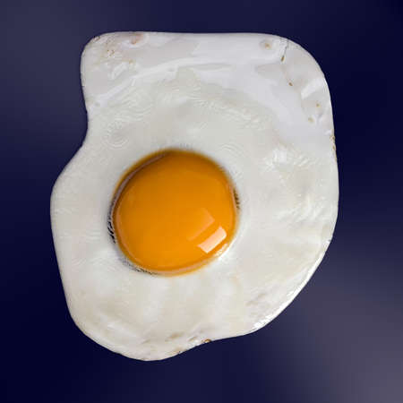 fried egg on hot pan 3d illustration Stockfoto