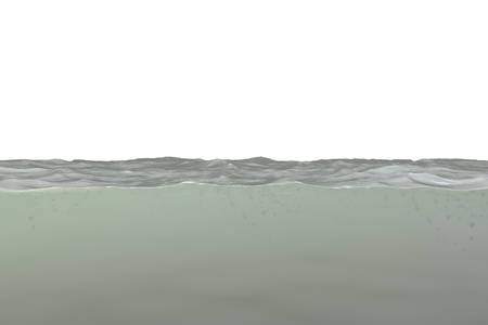 water section isolated on white background 3d illustration 写真素材