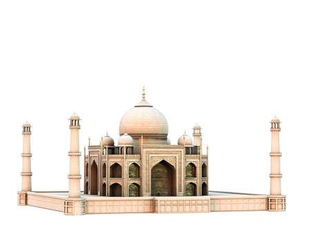 tajmahal isolated on white background 3d illustration Stock fotó