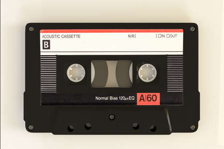 cassette tape isolated on white background 3d illustration Stok Fotoğraf