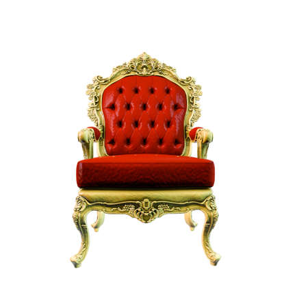 regal armchair isolated on white background 3d illustration  Stockfoto