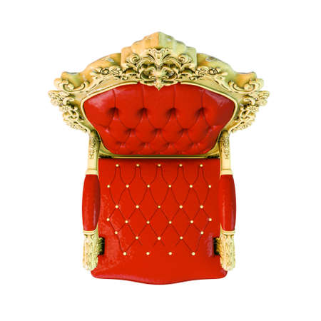 regal armchair isolated on white background 3d illustration Reklamní fotografie