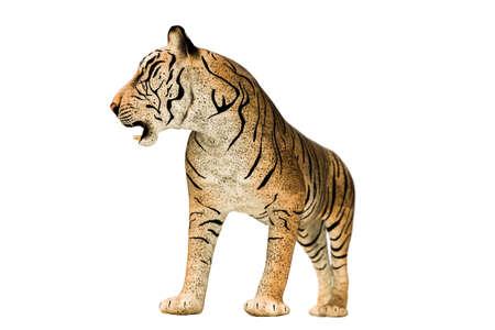 tigre isolé sur fond blanc illustration 3d