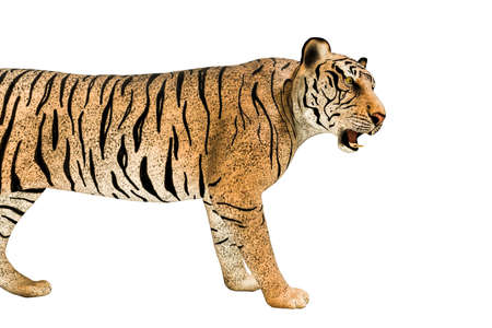 tiger isolated on white background 3d illustration