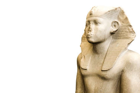 egyptian statue isolated on white background 3d illustration