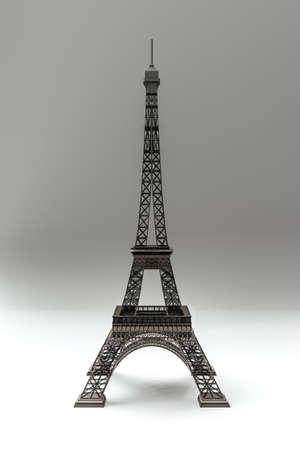 Tour Eiffel isolated on white background 3d illustration