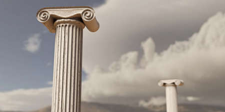 Close up of an ancient greek column 3d illustration
