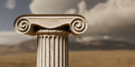 close up of an ancient greek column 3d illustration Archivio Fotografico - 132031996